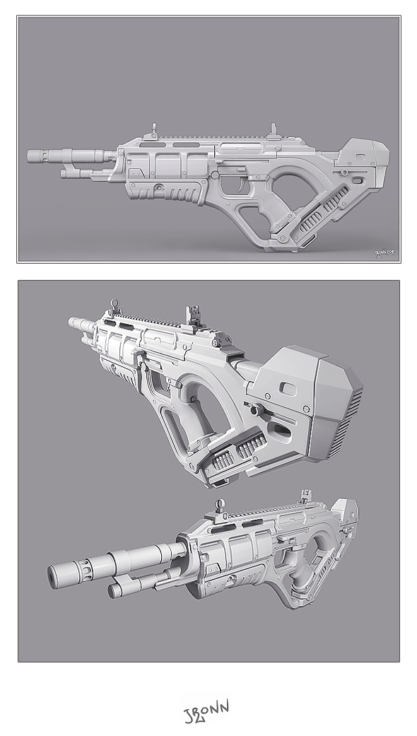 3DOcean Futuristic Rifle 3994863
