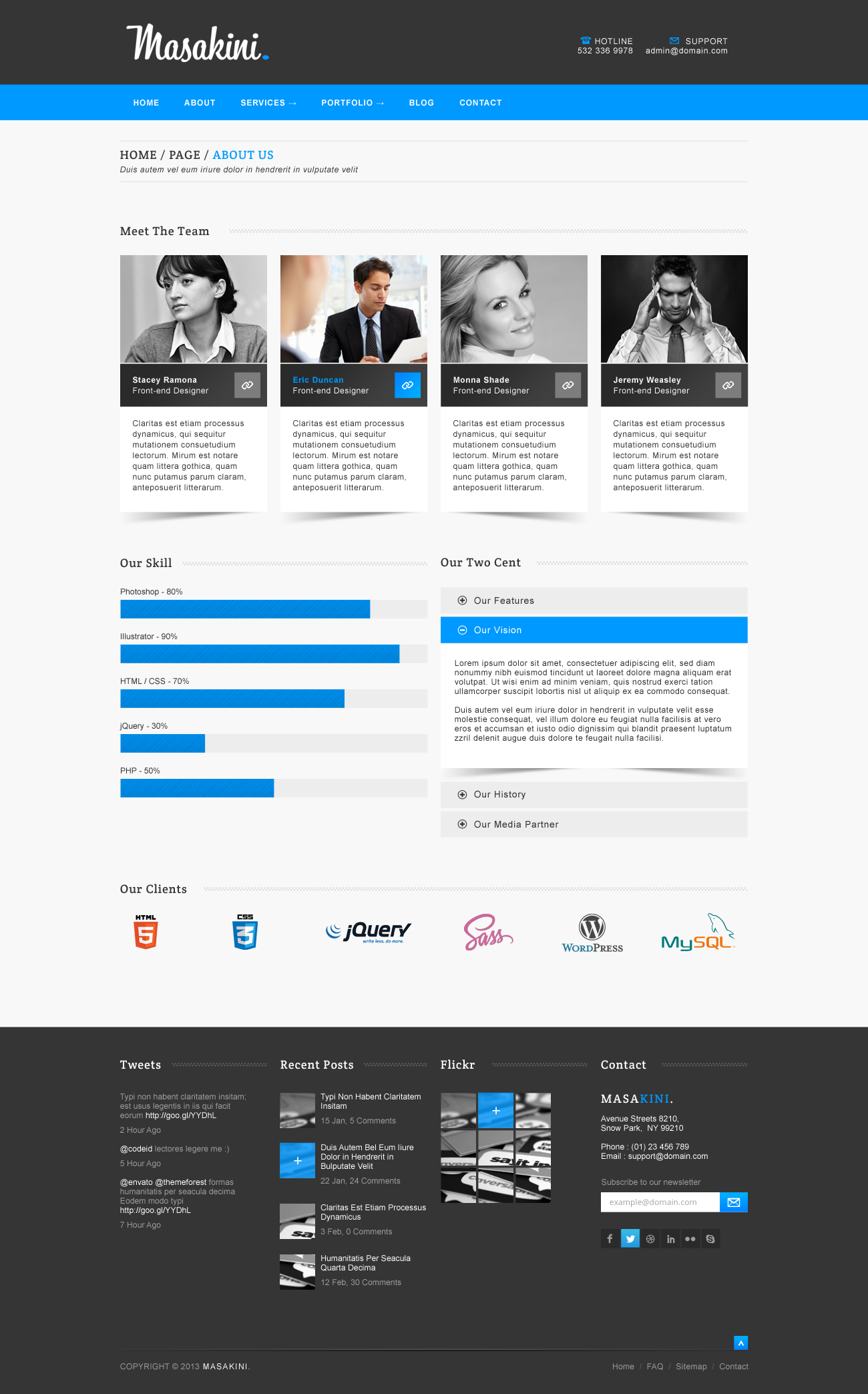 Masakini - Corporate PSD Template