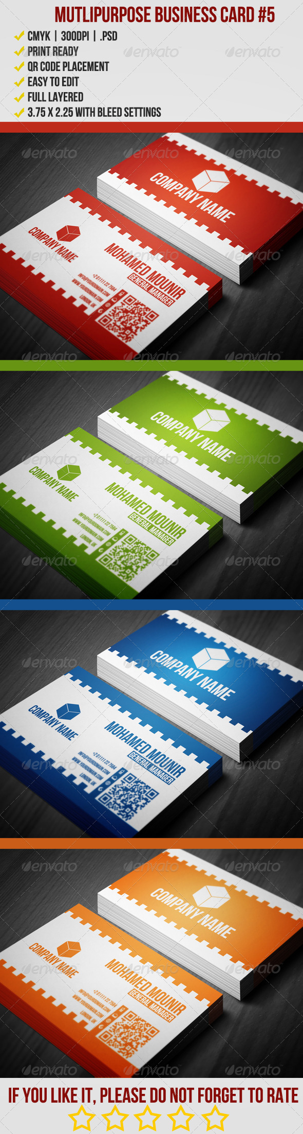 GraphicRiver Multipurpose Business Card 5 3902750