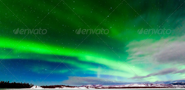 Intense display of Northern Lights Aurora borealis - Stock Photo - Images