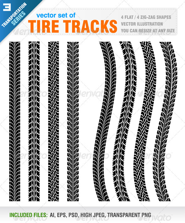 GraphicRiver Tire Tracks 3995900