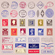 Vector Vintage Postage Stamps, Marks, Stickers - GraphicRiver Item for Sale