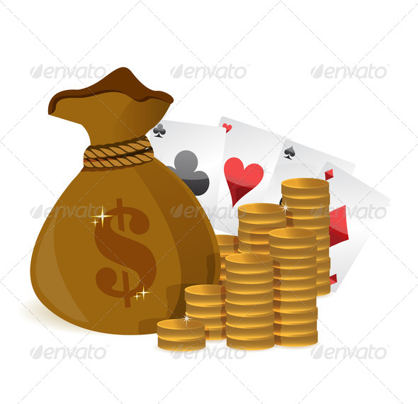 PhotoDune money bags casino profits 3997444