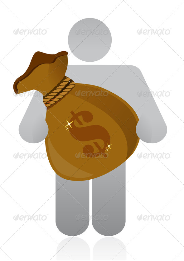 PhotoDune men holding a money bag 3997457