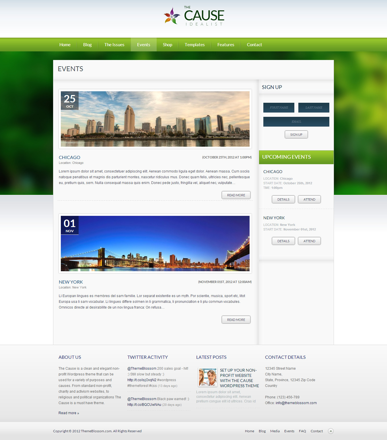 The Cause - Non-Profit WordPress Theme