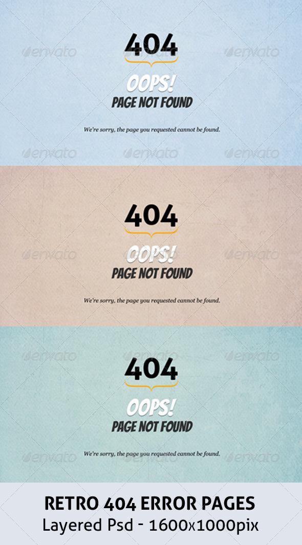 GraphicRiver Retro 404 Error Pages 3995935