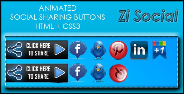 CodeCanyon Zi Social Share HTML & CS33 3996419
