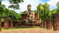 Buddha Statue at Temple in Sukhothai Historical park , Thailand - PhotoDune Item for Sale