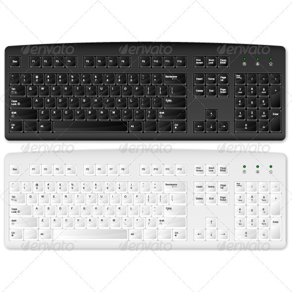 GraphicRiver computer keyboard 3997361