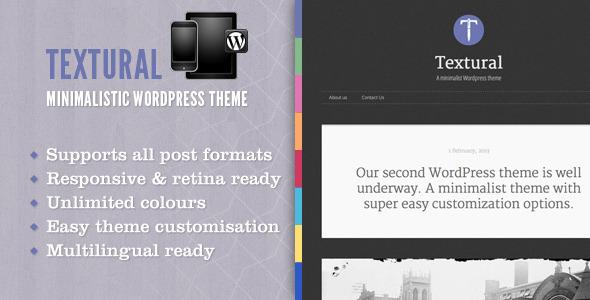 ThemeForest Textural Wordpress Theme 3997482