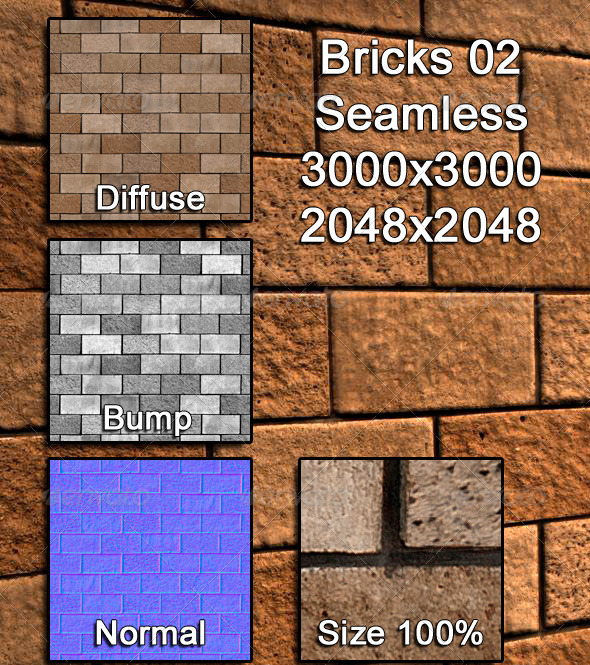 3DOcean Bricks 02 Tileable 3973153