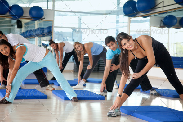 Stock Photo - PhotoDune Aerobics class in a gym 432107