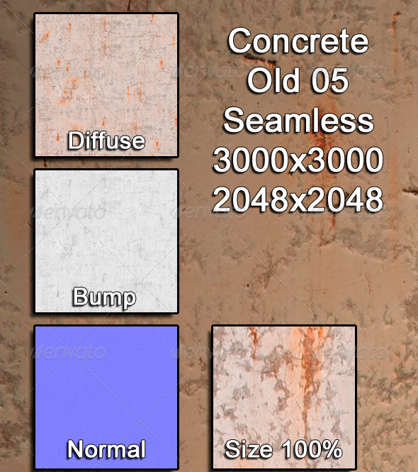 3DOcean Concrete Old 05 Tileable 3974425
