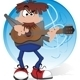Musician with guitar - GraphicRiver Item for Sale