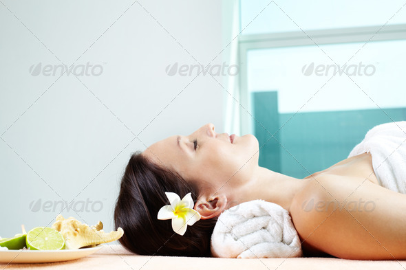 Relaxed female - Stock Photo - Images