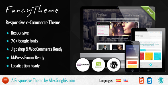 ThemeForest FancyTheme e-Commerce WordPress Theme 3991458
