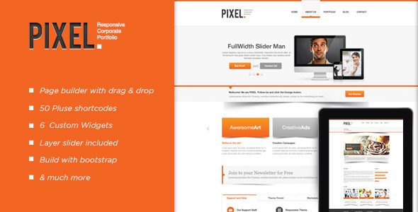 Pixel Responsive Wordpress Theme - Corporate WordPress