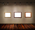 Empty frames in big gallery room - PhotoDune Item for Sale