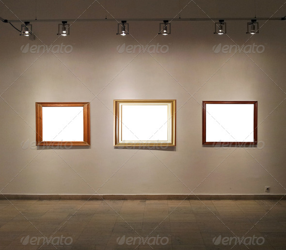 Empty 20frames 20on 20gallery 20wall 203 20wood 20frame jpgEmpty Picture Frame On Wall