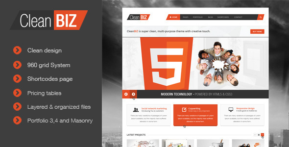 CleanBIZ - Creative Multipurpose Theme - Portfolio Creative