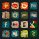 Social Media Grunge Icons - GraphicRiver Item for Sale