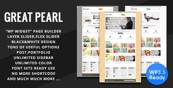 Great Pearl - Minimal Portfolio Wordpress Theme