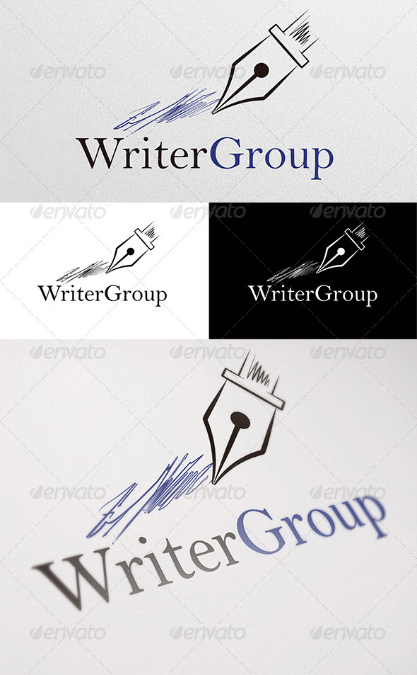 Writer Group Logo - Objects Logo Templates