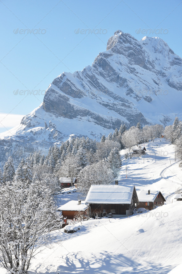 PhotoDune Braunwald famous Swiss skiing resort 4001890