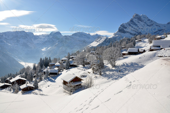 PhotoDune Braunwald famous Swiss skiing resort 4001908