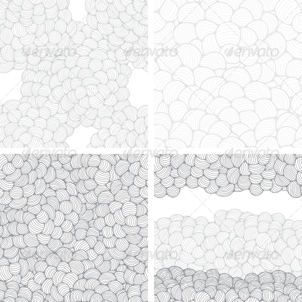 GraphicRiver Seamless Abstract Wave Hand-Drawn Patterns 4002113