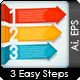 Three Step Arrows - GraphicRiver Item for Sale