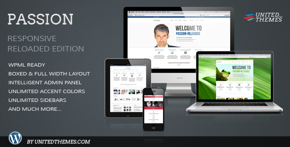 Passion Reloaded Responsive WordPress Theme - Business Corporate