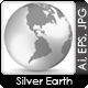 Silver Digital Earth Concept - GraphicRiver Item for Sale