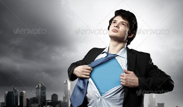 PhotoDune Young superhero businessman 4004868
