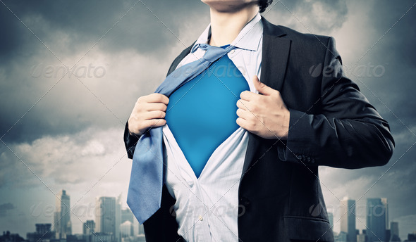 PhotoDune Young superhero businessman 4004869