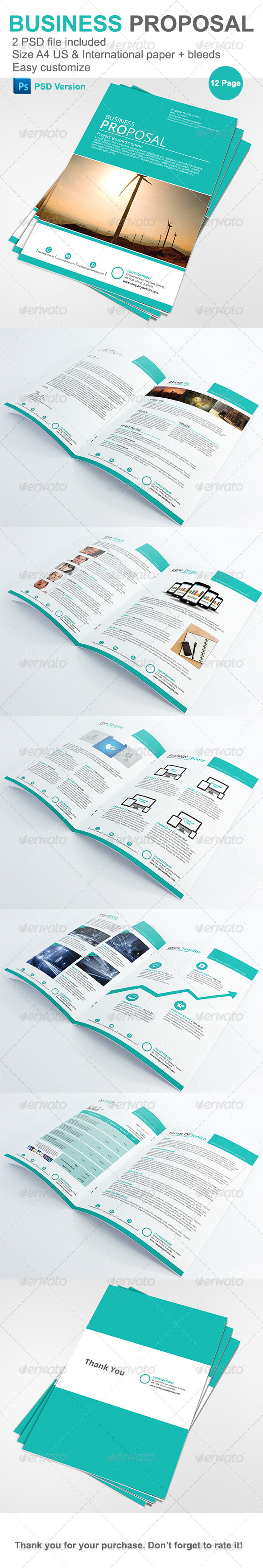 Gstudio Business Proposal Template - Proposals & Invoices Stationery