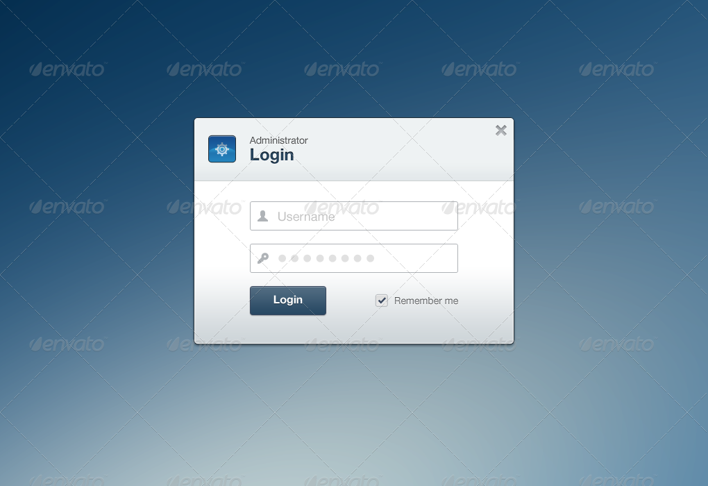 Web App Login Form