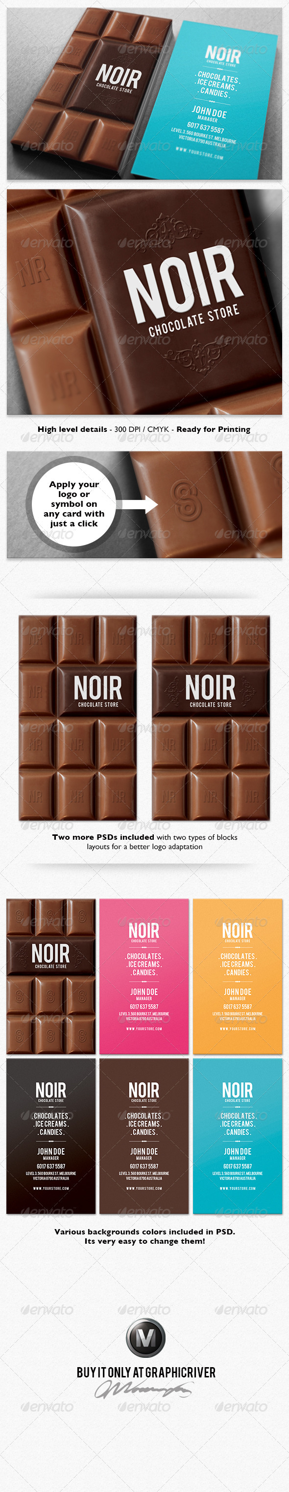GraphicRiver Chocolate Business Card 3908680