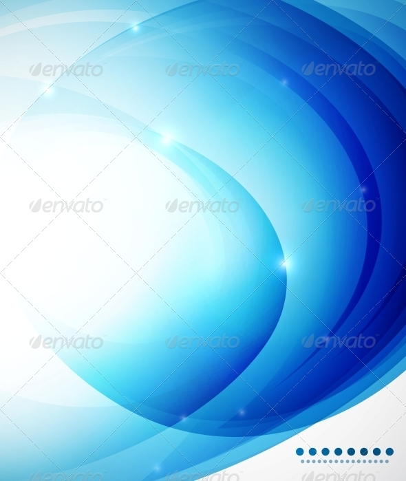 GraphicRiver Blue abstract vector background template 4006399