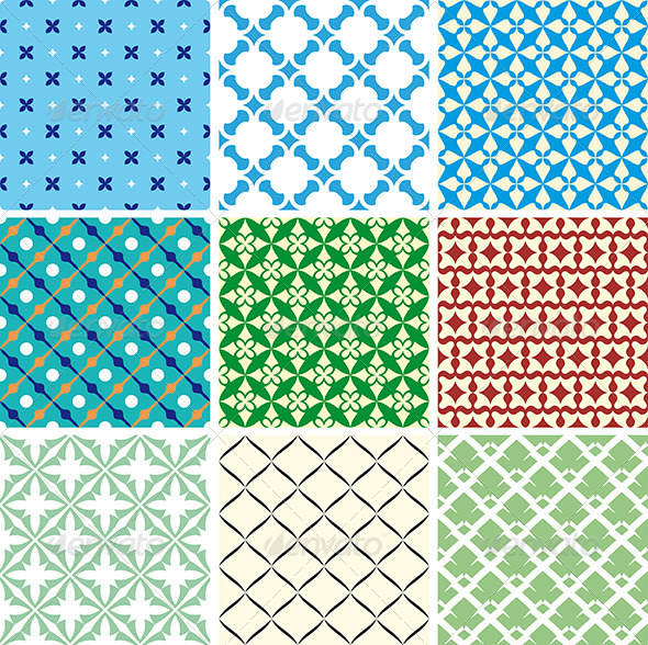 GraphicRiver Geometric Vector Patterns 4006764