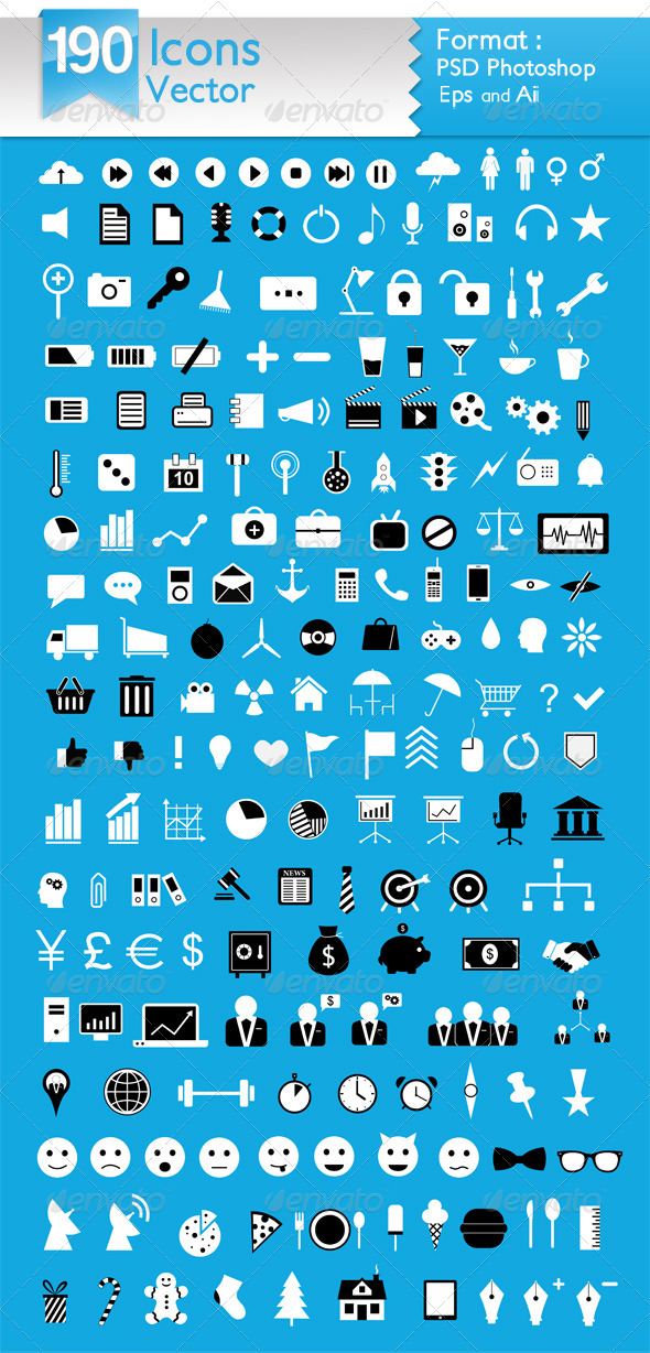GraphicRiver Vector Icons 3902689