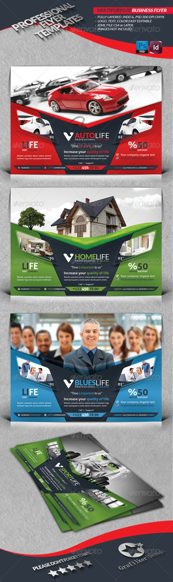 GraphicRiver Multipurpose Business Flyer 4007013