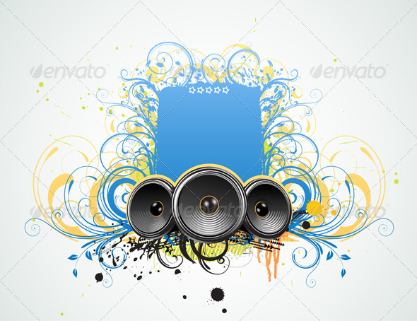 GraphicRiver abstract party frame 4007510