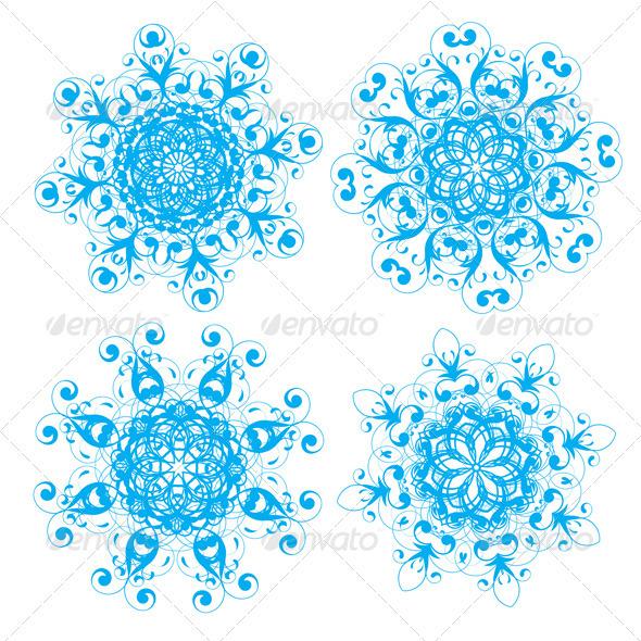 GraphicRiver Snowflakes 4007616