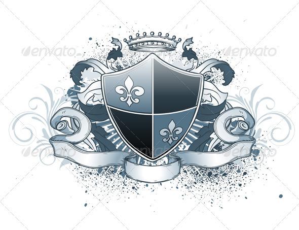GraphicRiver Heraldic Shield 4007717