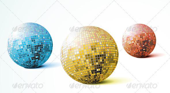 GraphicRiver Disco Mirror Balls 4007719