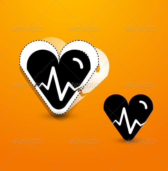 GraphicRiver Stylized Black Heart Abstract Background 4007932
