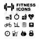 Black Fitness Icon Set - GraphicRiver Item for Sale