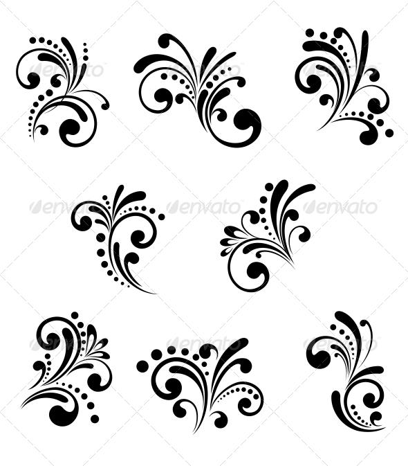 GraphicRiver Floral Elements 4007957