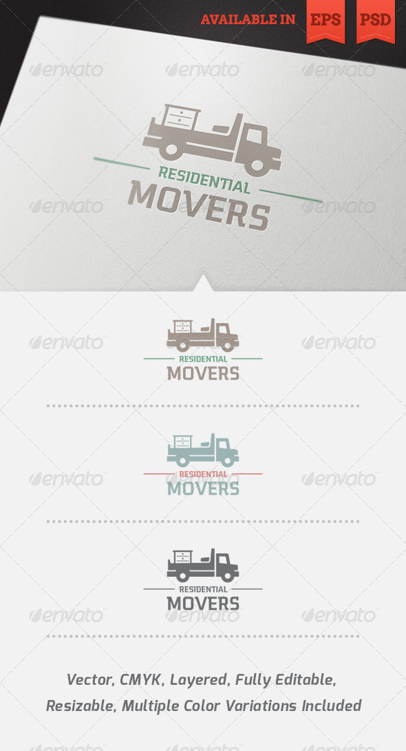 Residential Movers Logo Template - Objects Logo Templates